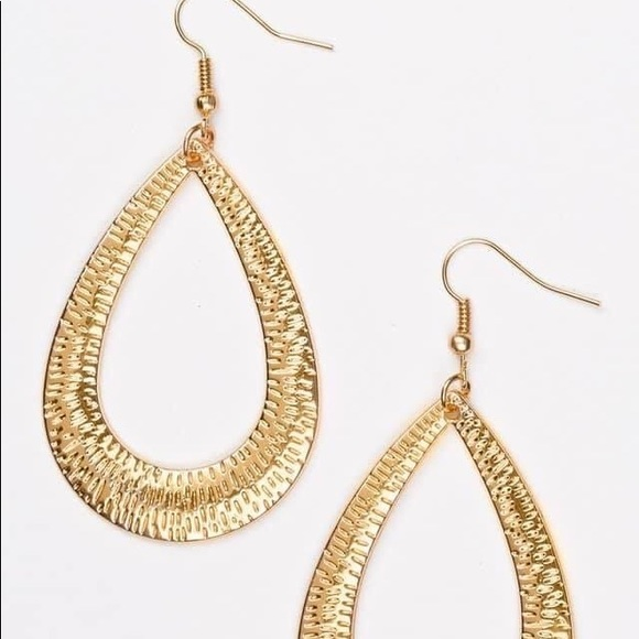 COPY - Straight Up Shimmer Gold Earrings